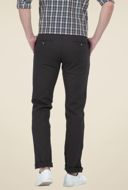 Basics Grey Solid Chinos
