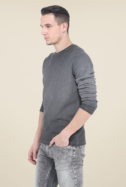 Basics Grey Crew T Shirt