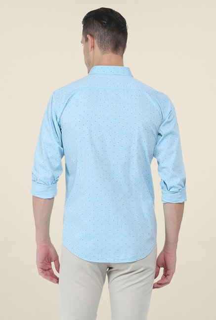 Basics Aqua Printed Shirt