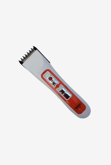 Nova N.H.T-5 Beard Trimmer for Men (White and Orange)