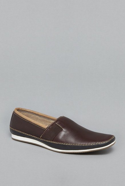 David Jones by Westside Brown Slip On Shoes