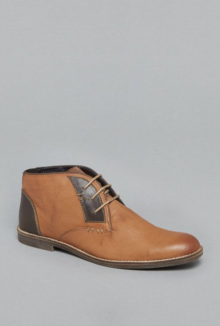 David Jones by Westside Tan Chukka Shoes