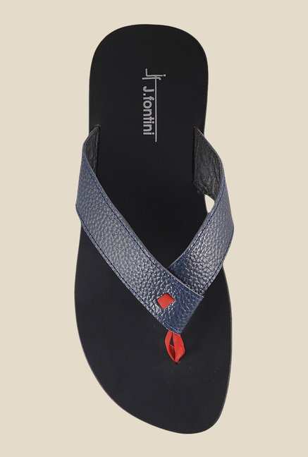 J. Fontini by Mochi Navy Thong Sandals