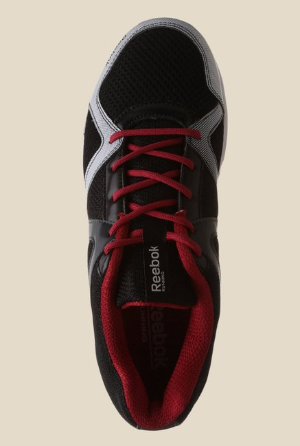 Reebok Thunder Run Black & Red Running Shoes