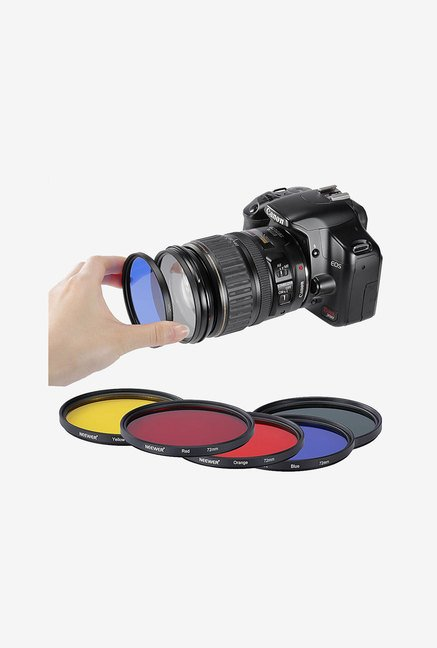 Neewer 72mm 5Color Lens Filters for Contrast/Creative Effect