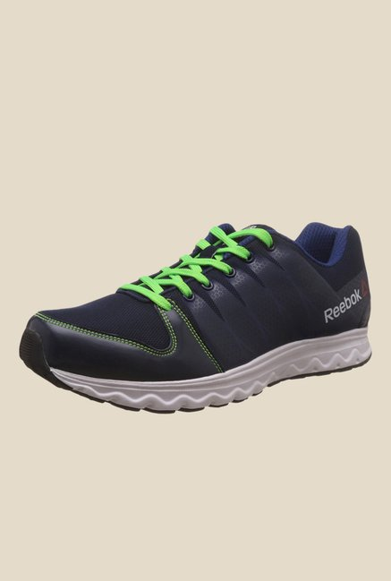 Reebok Cool Traction Black & Navy Running Shoes