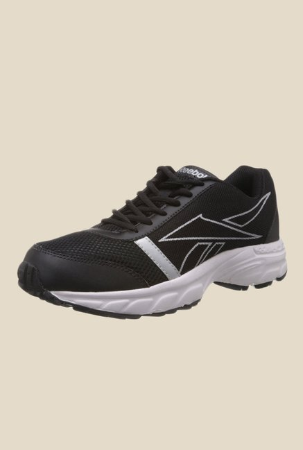 Reebok Black & White Running Shoes