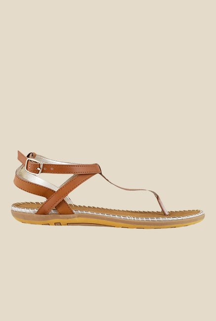 Mochi Tan Ankle Strap Sandals