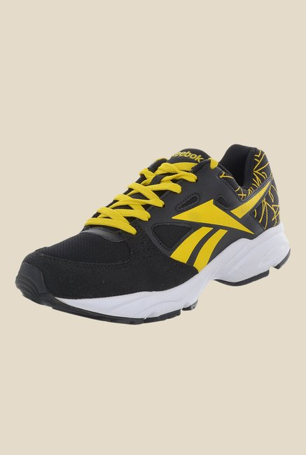 Reebok Tech Speed LP Black & Yellow Running Shoes