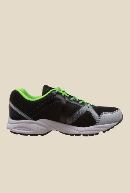 Reebok Thunder Run Black & Green Running Shoes