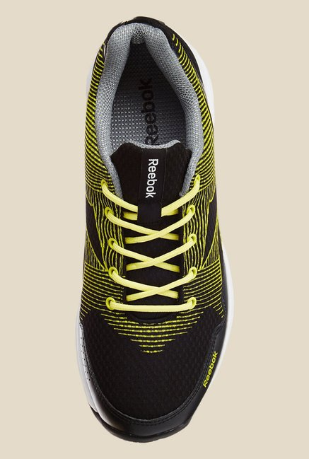 Reebok Black & Yellow Running Shoes