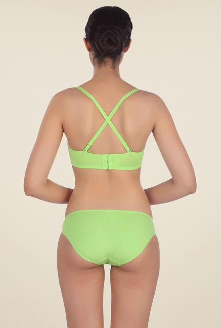 Triumph Green Solid Seamless Bra