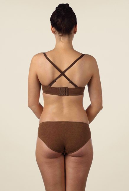 Triumph Brown Solid Seamless Bra