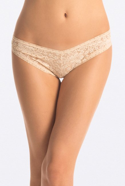 "PrettySecrets Soft Beige ""Bridal"" Lacy Hipster"