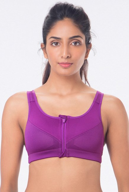 PrettySecrets Purple Padded Sports Bra