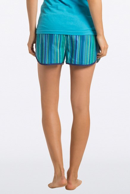 PrettySecrets Blue Striped Shorts