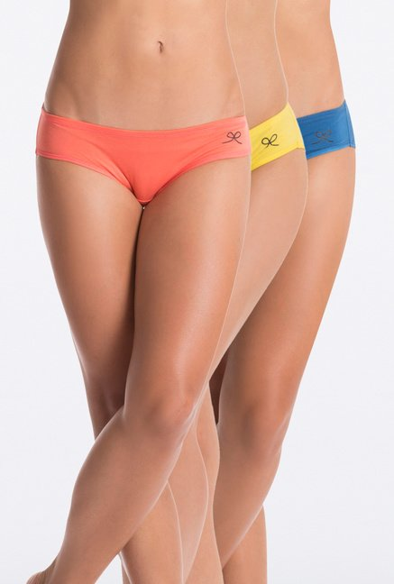 PrettySecrets Orange, Yellow & Blue Hipster (Pack of 3)