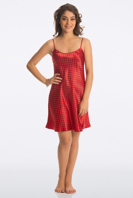 PrettySecrets Red Polka Dot Baby Doll
