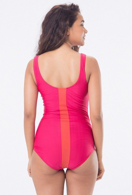 PrettySecrets Pink Printed Swimsuit