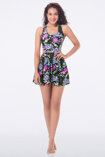 PrettySecrets Multicolor Floral Skirted Swimsuit