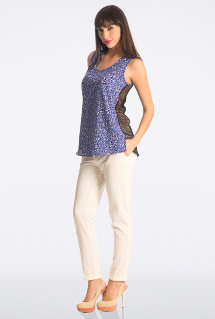 PrettySecrets Blue Printed Top