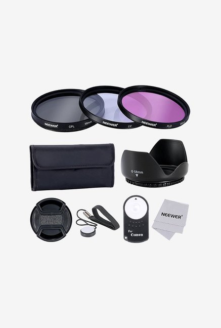 Neewer 58mm Lens Filter Accessory Kit with Remote (Black)