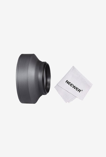 Neewer 90083753 58mm Collapsible Rubber Lens Hood (Black)
