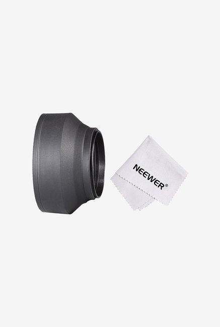Neewer 90083754 67mm Collapsible Rubber Lens Hood (Black)