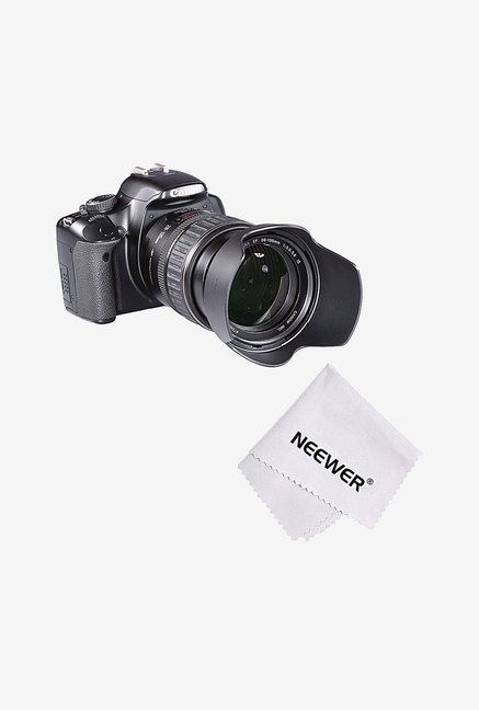 Neewer HB-35 Lens Hood with Microfiber Cleaning Cloth