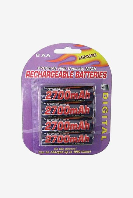 Lenmar Aa Nimh Rechargeable Batteries 8 Pack (Blue)
