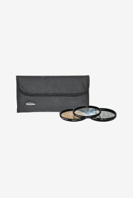 Zeikos APFTK52 52mm 3- Piece Professional Filter Kit (Black)