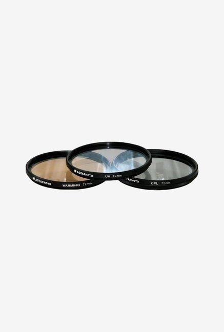 Zeikos APFTK72 72mm 3- Piece Professional Filter Kit (Black)