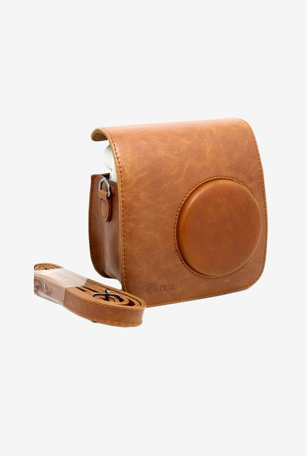 CAIUL PU Leather Fujifilm Instax Mini 7S Case (Brown)