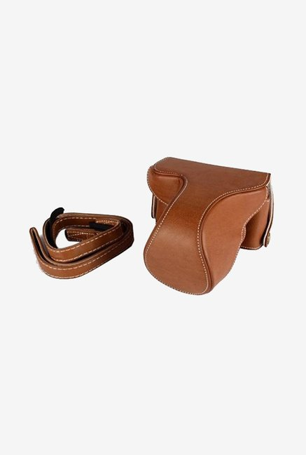 TechCare Leather Camera Case for Fujifilm X-M1 (Brown)