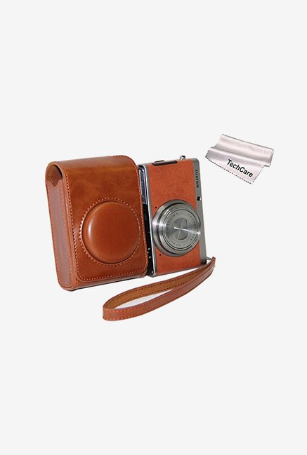 TechCare Leather Camera Case for Fujifilm XQ1 (Brown)