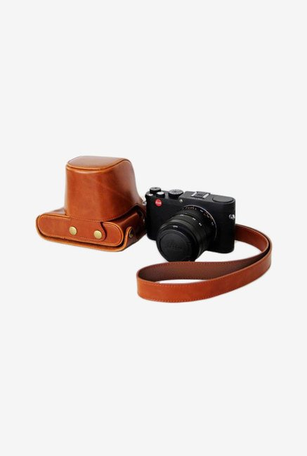 TechCare Leather Camera Case for Fujifilm XQ1 (Red)