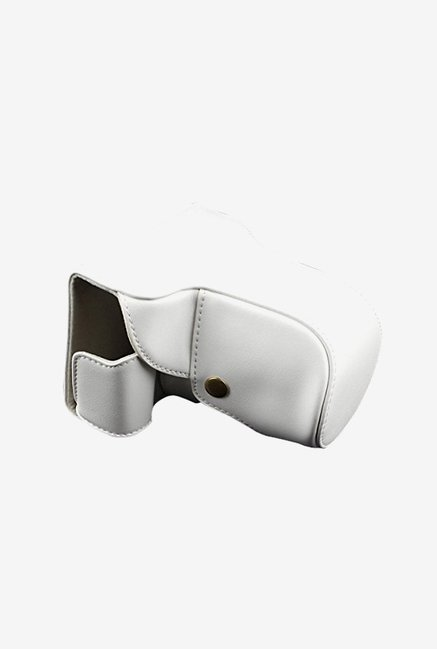 TechCare Leather Camera Case for Panasonic DMC- GF6 (White)