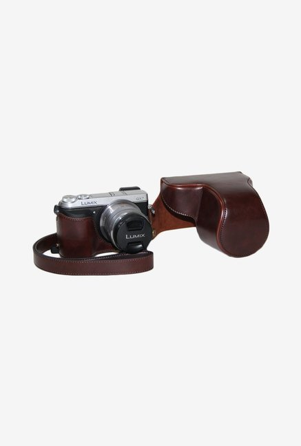 TechCare Leather Camera Case for Lumix DMC-GX7 (Coffee)