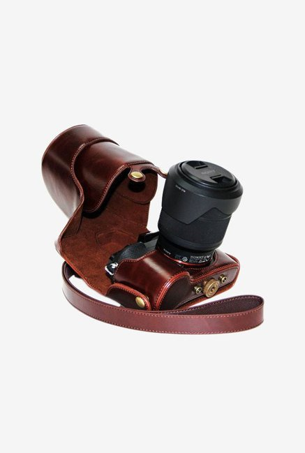 TechCare Leather Camera Case for Sony Alpha A7 (Brown)