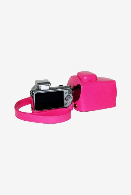 TechCare Leather Camera Case for Sony Alpha NEX-5T (Pink)