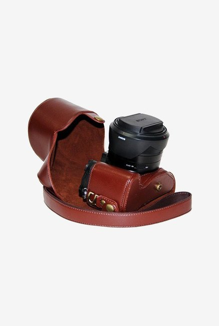 TechCare Leather Camera Case for Sony DSC RX10/B (Brown)