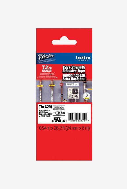 Brother TZeS251 Tape with Extra-Strength Adhesive