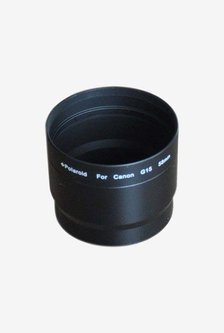 Polaroid 58mm Aluminium Lens and Filter Adapter Tube (Black)