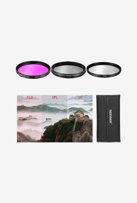Neewer 52Mm 3Pcs Filter Kit For Nikon (UV+FDL+CPL)