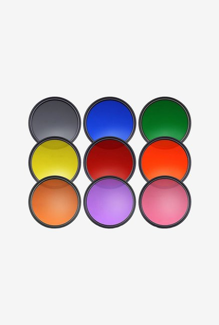 Neewer 52Mm 9Pcs Complete Full Color Lens Filter Set