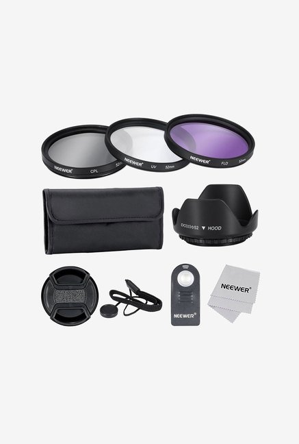 Neewer 52Mm Lens Filter Accessory Kit with Remote (Black)