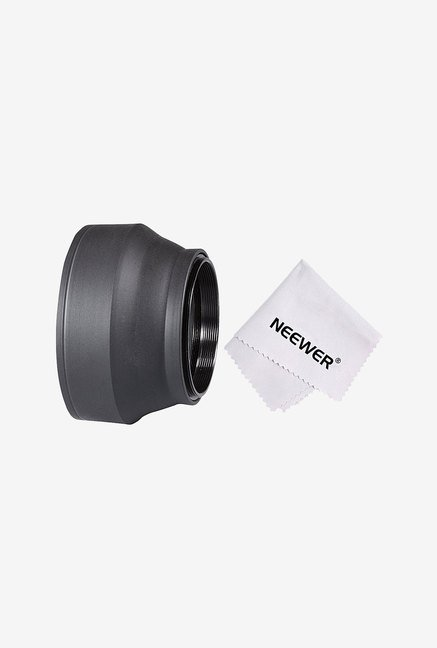Neewer 90083752 52mm Collapsible Rubber Lens Hood (Black)