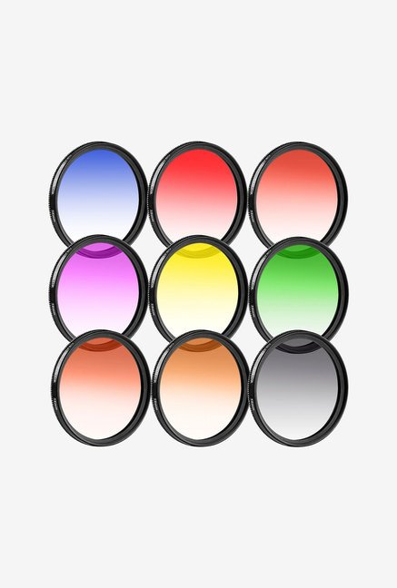 Neewer 58mm Complete Graduated Color Lens Filter Set (9pcs)