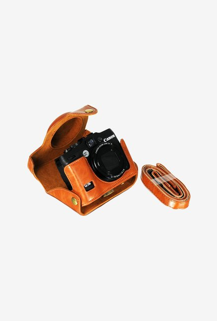 Camdesign G16G15 LIBROWN Simulated Camera Case (Light-Brown)