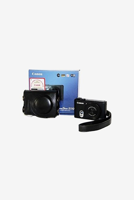 TechCare Leather Camera Case for Canon S120 (Black)